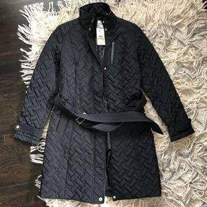 Cole Haan signature quilted 🧥 in black NWT size S